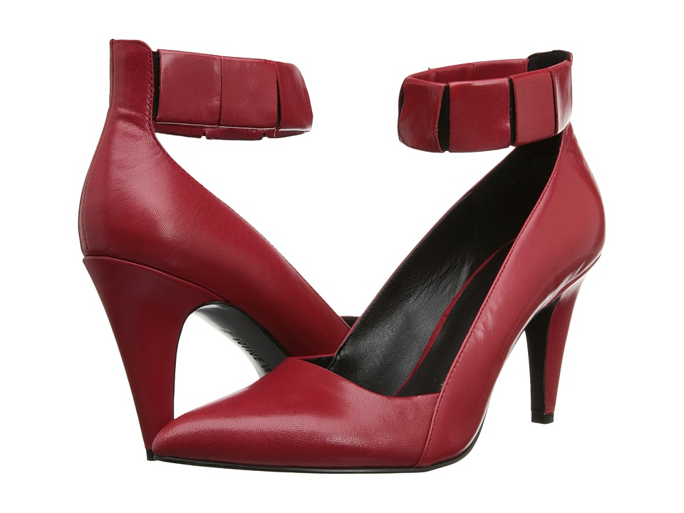 Nine West Prepschool (Red/Black Leather) High Heels