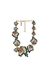 Oscar de la Renta - Cut Out Jeweled Leaf Necklace