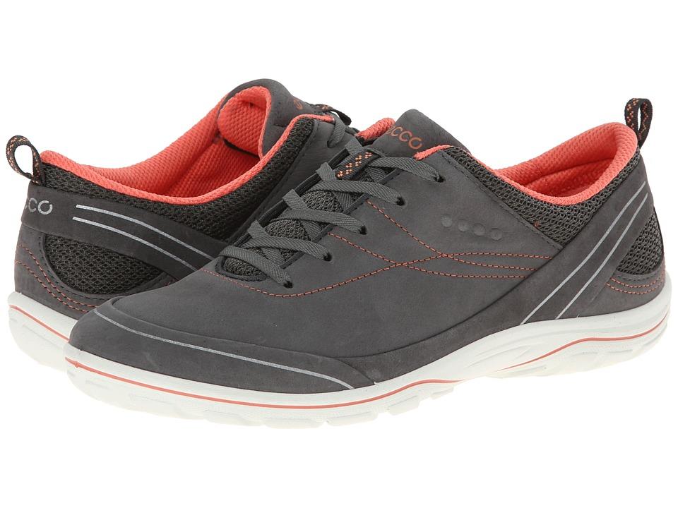 ECCO Sport Arizona Tie Dark Shadow/Coral Womens Shoes