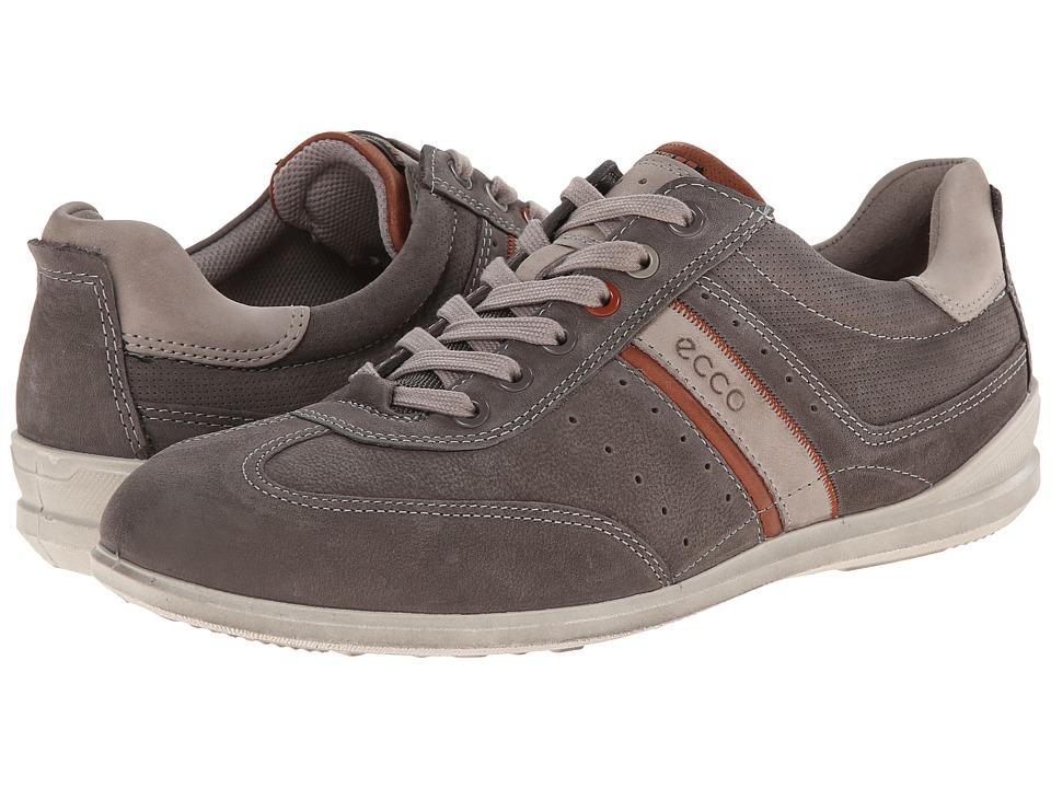 ECCO Chander Casual Tie Warm Grey/Mahogany/Moon Rock Mens Lace up casual Shoes