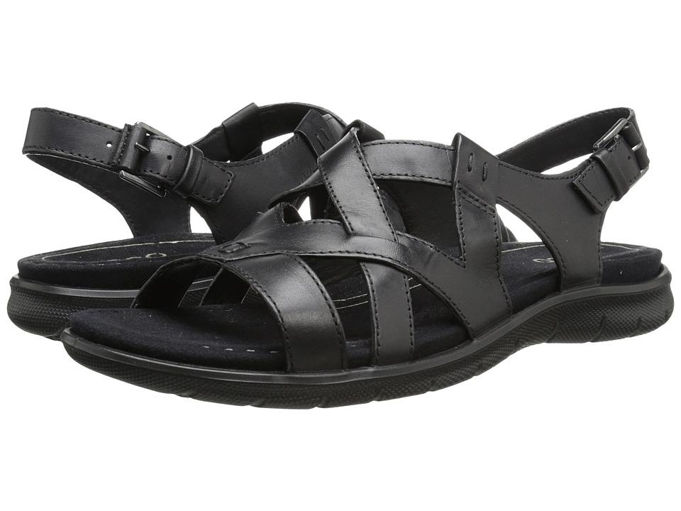 ECCO Babett Sandal Cross Strap Black Womens Sling Back Shoes