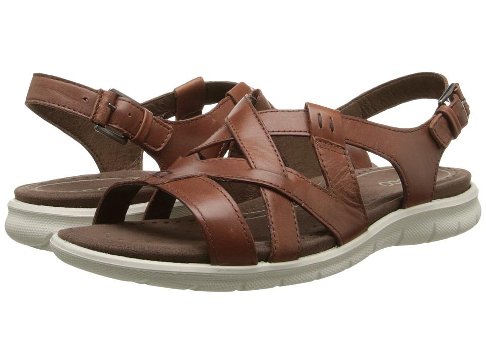 ECCO Babett Sandal Cross Strap Mahogany Womens Sling Back Shoes