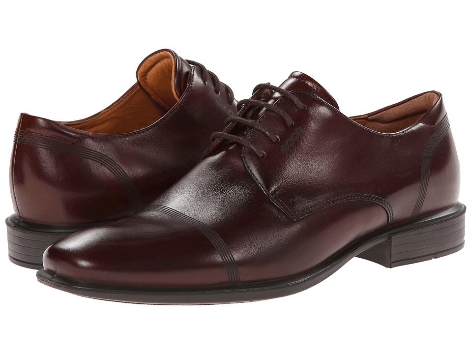 ECCO Cairo Modern Cap Toe Tie Mink Mens Lace Up Cap Toe Shoes