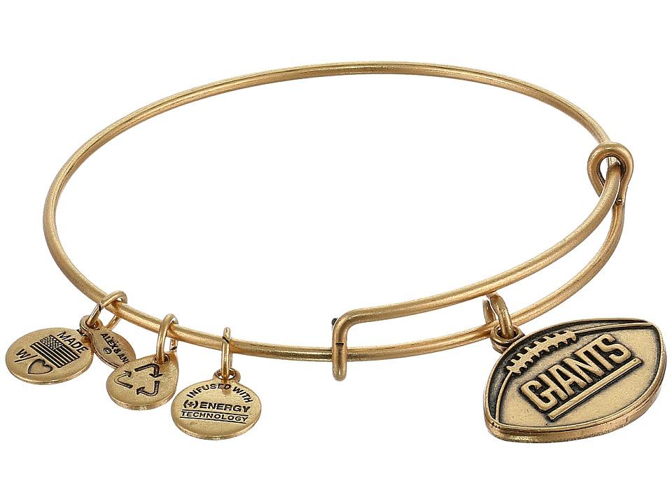 Alex and Ani - New York Giants Football Charm Bangle (Rafaelian Gold Finish) Bracelet