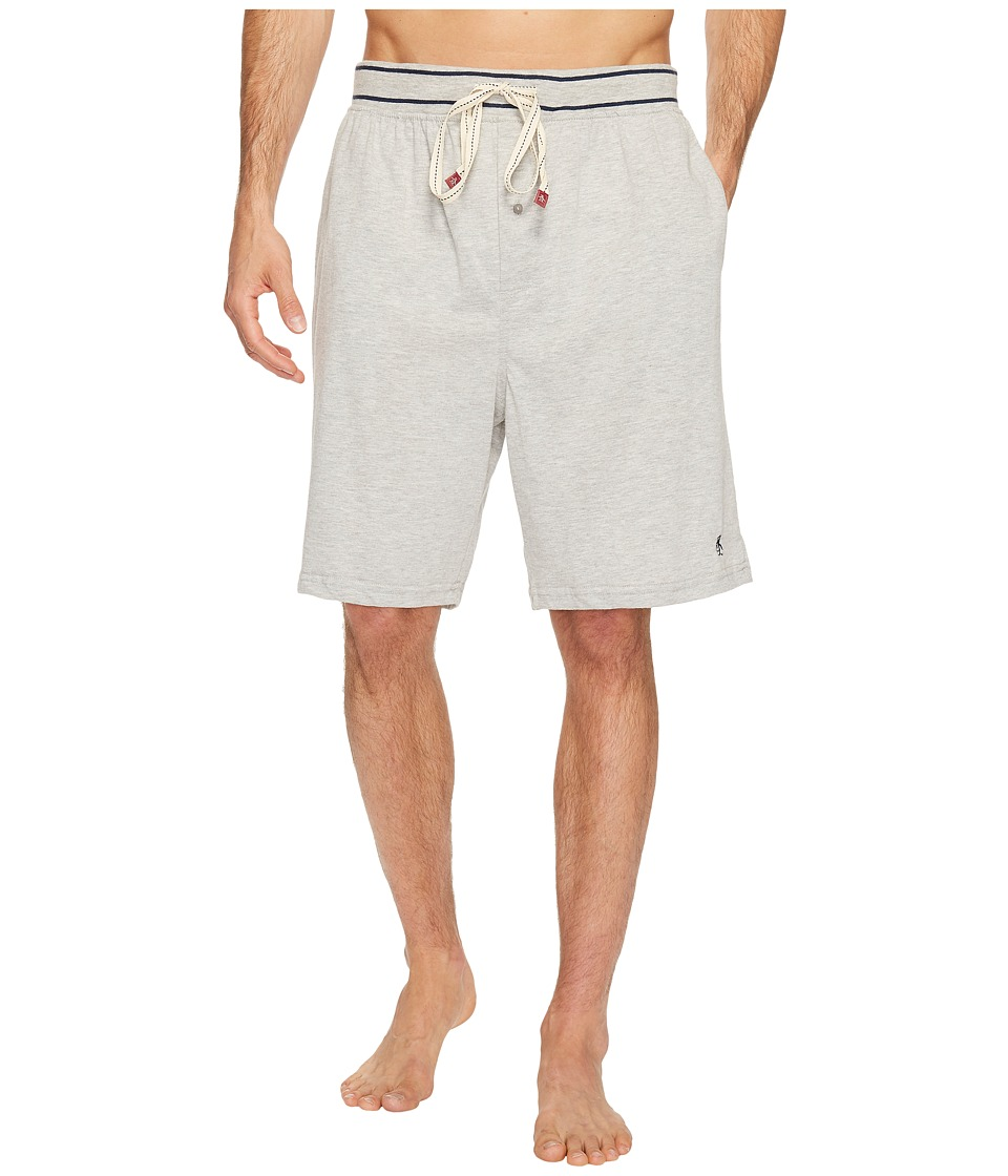 Original Penguin Comfortable Soft Knit Sleep Shorts (Grey Heather) Men