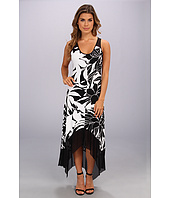 Marc New York by Andrew Marc - Flower Print Mesh Hem Maxi Dress MD4Y5280