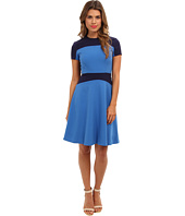 Marc New York by Andrew Marc - Color Block Fit & Flare Dress MD4X6323