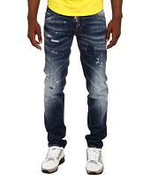 DSQUARED2 - White Lines Slim Jean