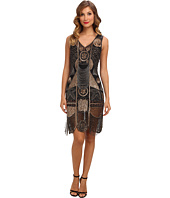 Unique Vintage - 1920's The Bosley Beaded Flapper with Beaded Fringe Dress