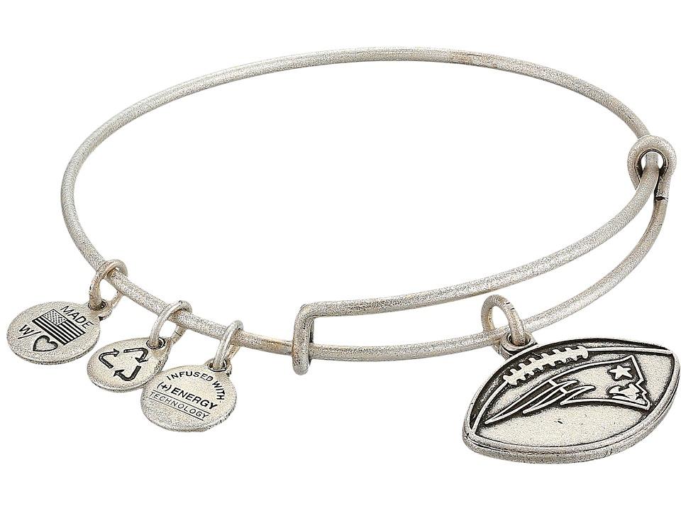 Alex and Ani - New England Patriots Football Charm Bangle (Rafaelian Silver Finish) Bracelet