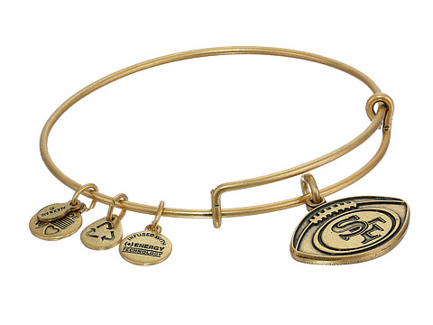 Alex and Ani San Francisco 49ers Football Charm Bangle - Rafaelian Gold Finish