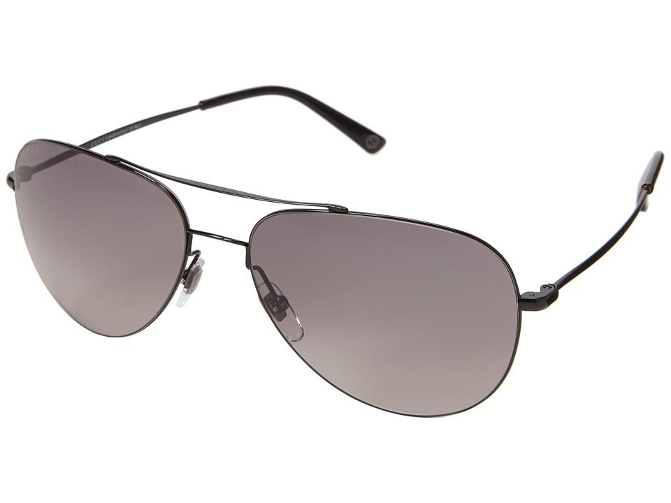Gucci GG 2245/S Shiny Black/Gray Gradient Fashion Sunglasses