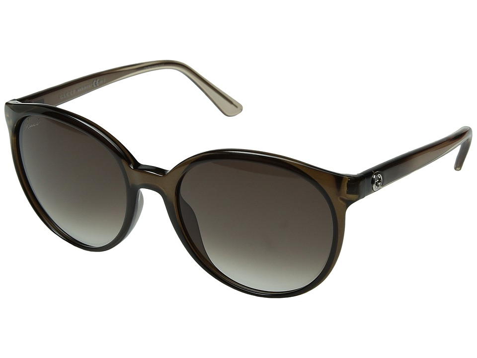 Gucci GG 3697/S Transparent Brown/Gray Gradient Fashion Sunglasses