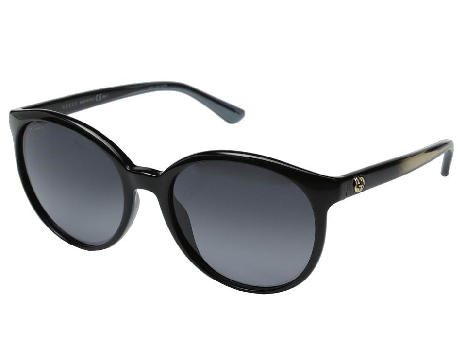 Gucci GG 3697/S Shiny Black/Gray Gradient Fashion Sunglasses