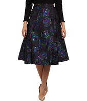 Kate Spade New York - Floral Clip Dot A Line Skirt