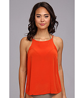 Vix - Solid Orange Beta Shirt Cover-Up