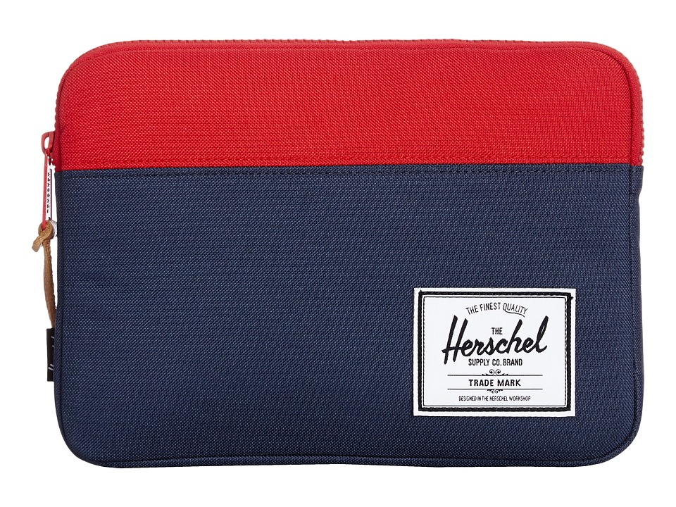 Herschel Supply Co. - Anchor Sleeve Ipad Air (Navy/Red) Computer Bags