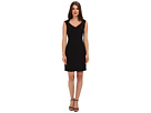 Donna Morgan - V-Neck Multi Directional Body Con Dress (Black)