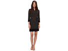 Donna Morgan - Matte Jersey Shirtdress (Black/Beige)