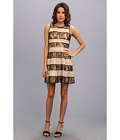 Jessica Simpson - Pieced Lace Circle Skirt Dress With Rib Knit Back