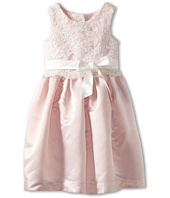 Us Angels - Lace Overlay With Satin Skirt Dress (Toddler)