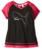 Puma Kids - S/S Geo Print Raglan Sleeve Tee (Little Kids)