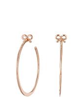 Betsey Johnson - Bow Large Hoop Earrings