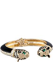 Betsey Johnson - Hollywood Glam Leopard Double Hinged Bangle Bracelet
