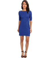 Christin Michaels - 3/4 Sleeve Boatneck Sheath Dress