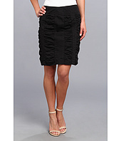 Christin Michaels - Side Zip Rouched Skirt Solid