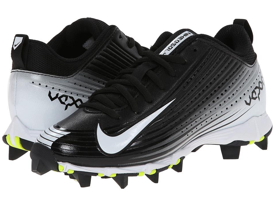 Nike Kids - Vapor Keystone 2 Low BG Baseball (Toddler/Little Kid/Big Kid) (Black/White) Kids Shoes