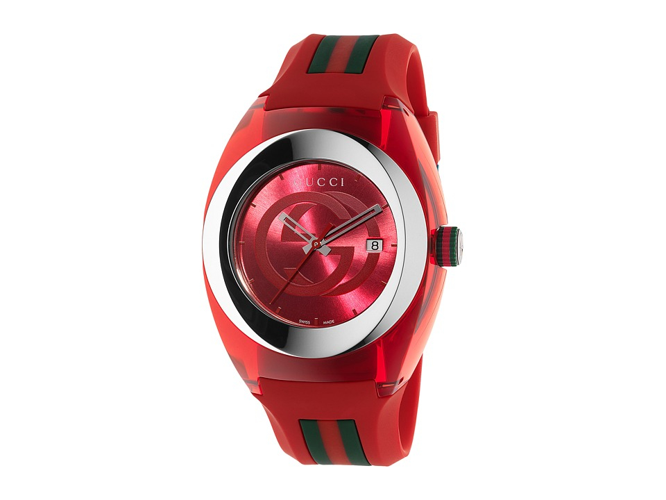 Gucci Gucci Sync XXL YA137103 Red/Steel Watches