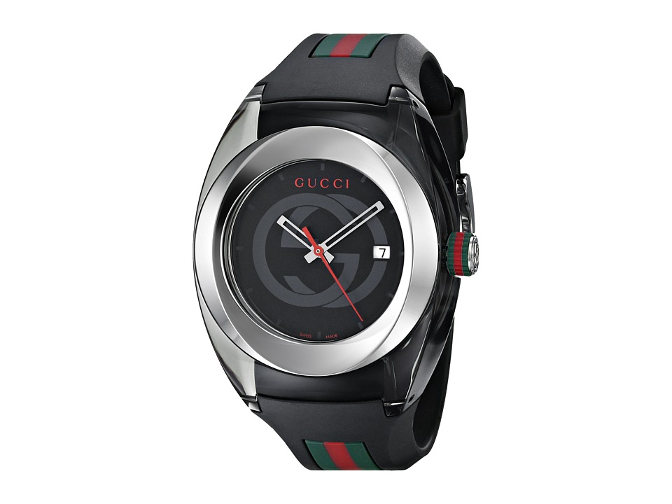 Gucci Gucci Sync XXL YA137101 Black/Steel Watches