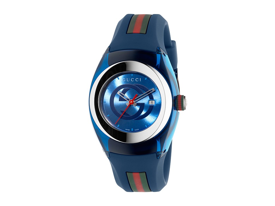 Gucci - Gucci Sync LG-YA137304 (Blue/Steel) Watches
