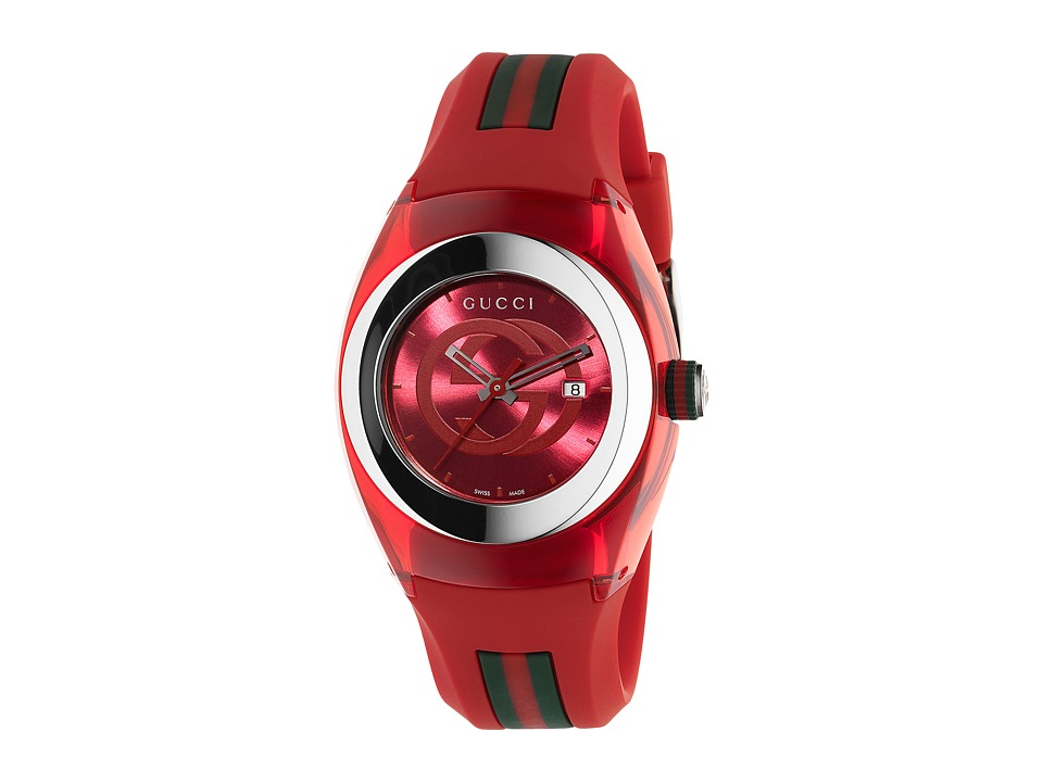 Gucci - Gucci Sync LG-YA137303 (Red/Steel) Watches