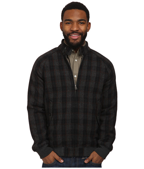 ben sherman wool check harrington jacket mf10818a clothing men shipped free at zappos. Black Bedroom Furniture Sets. Home Design Ideas