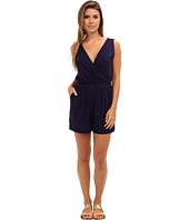 Three Dots - Cross Over Romper w/ V-Back