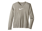 Nike Kids Leg V-Neck Swooshtm L/S Tee (Little Kids/Big Kids)