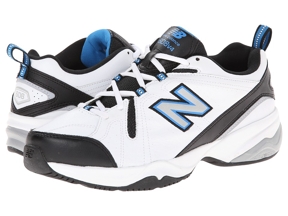 New Balance - MX608v4 (White/Royal) Mens Walking Shoes
