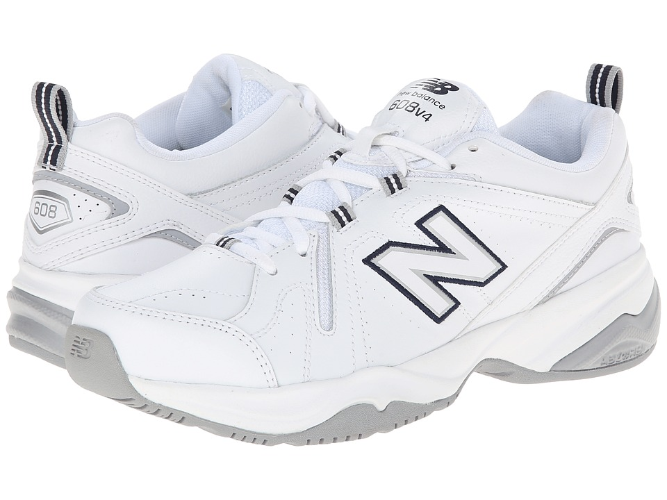 New Balance WX608v4 (White/Blue) Walking Shoes