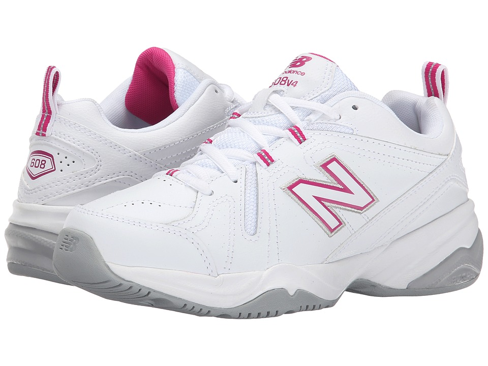 New Balance WX608v4 (White/Pink) Walking Shoes