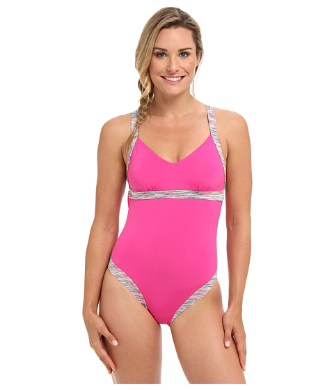 TYR - Sonoma V-Neck Open Back One Piece (Pink) - Apparel