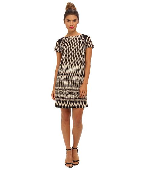Nicole Miller Temple Ikat Short Sleeve Dress