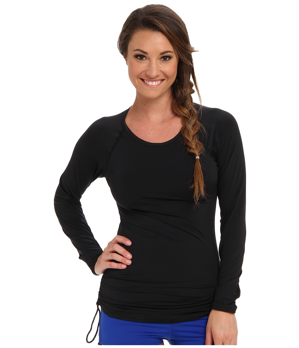 TYR Solids Swim Shirt (Black) Women