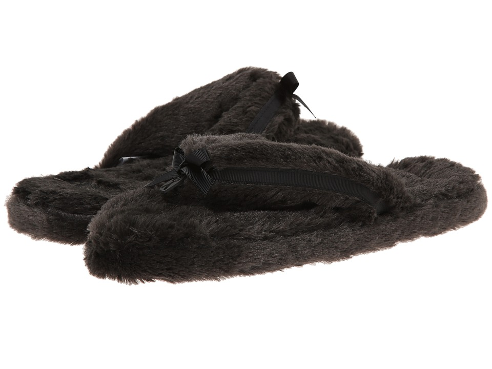 Bedroom Athletics Erica Spa Thong Charcoal Womens Slippers
