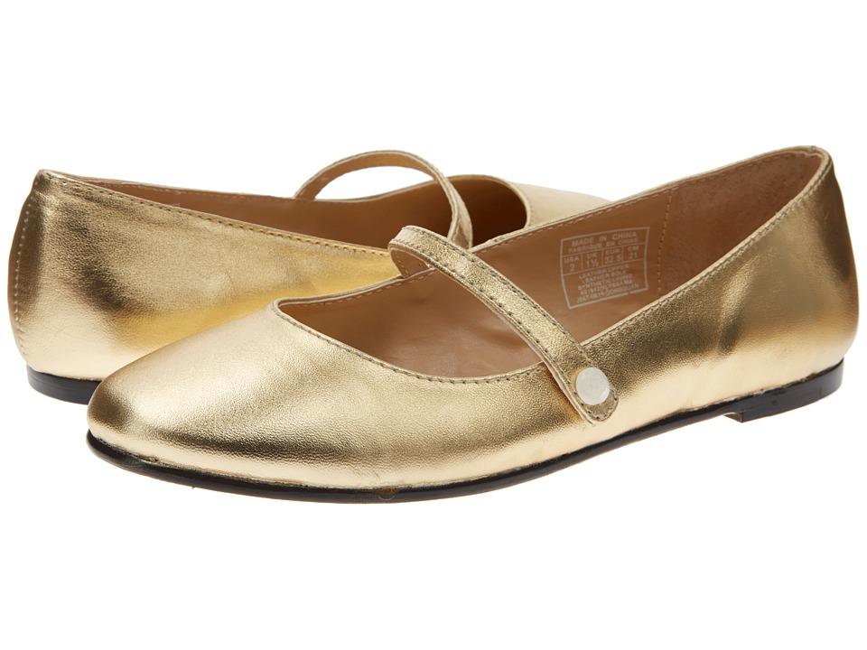 Polo Ralph Lauren Kids Alyssa Mary Jane Little Kid/Big Kid Gold Leather Girls Shoes