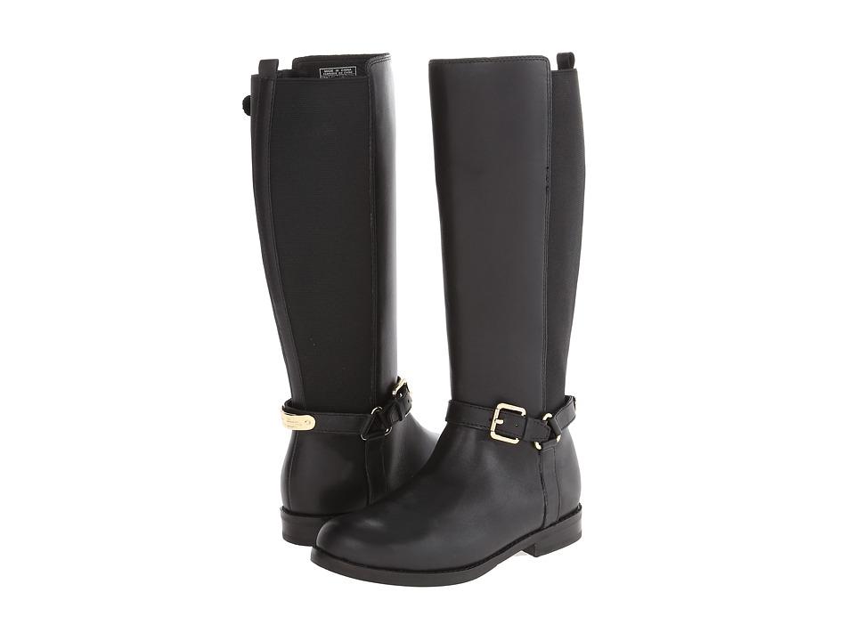 Polo Ralph Lauren Kids Sabeen Little Kid/Big Kid Black Leather Girls Shoes