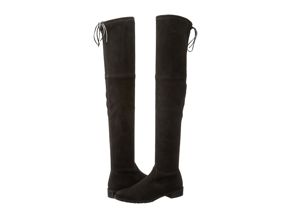 Stuart Weitzman - Lowland (Black Suede) Womens Pull-on Boots