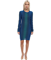M Missoni - Placed Dash Knit Long Sleeve Dress