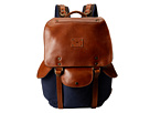 Will Leather Goods Lennon Backpack (Navy/Tan)